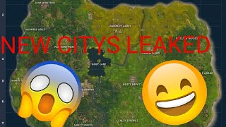 NEW CITYS NAMES OUT!! FORTNITE BR NEW UPDATE COMING SOON
