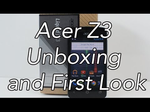 Acer Liquid Z3 Unboxing and First Look