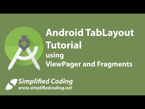 Android TabLayout Tutorial using ViewPager and Fragments