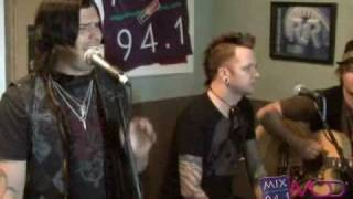 hinder singing without you in the mix 941 studio with jeff g