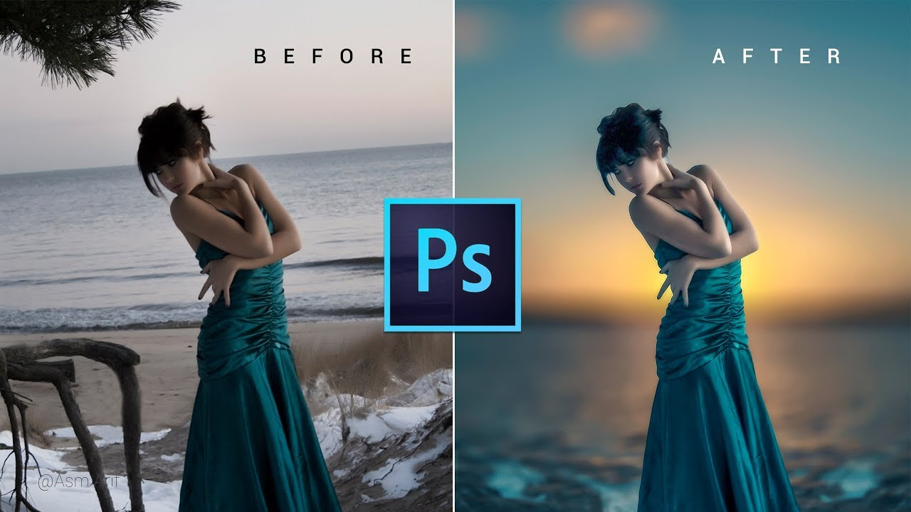 Photoshop CC Tutorial - Fantasy Sunset Color Effects | Photoshop Tutorial ✔