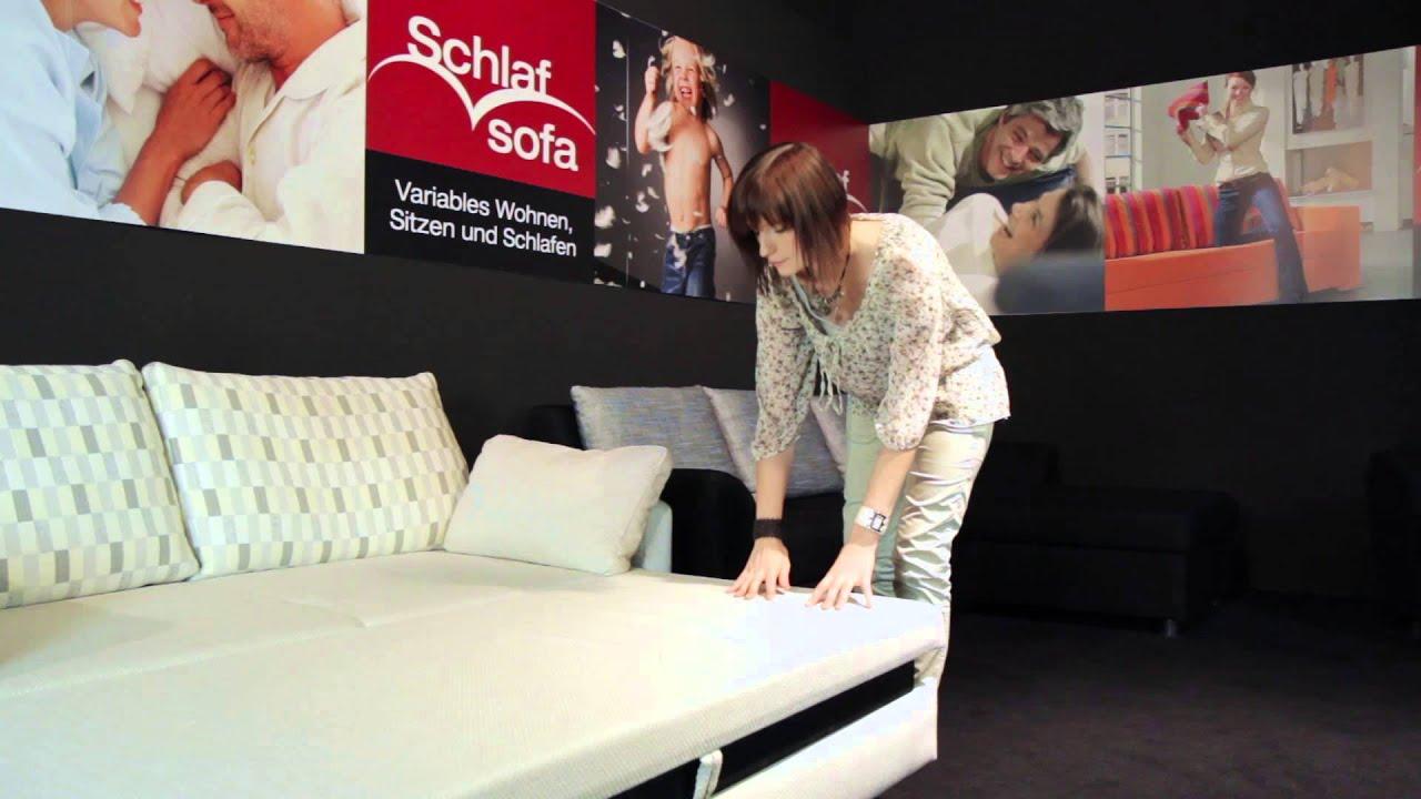 Polstermöbel Fischer Schlafsofa - YouTube