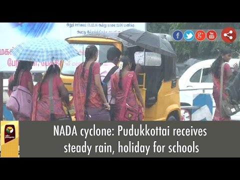NADA cyclone: Pudukkottai receives steady rain, holiday for schools