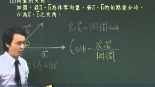 【林晟數學 高職】試看向量第2集 內積與夾角的基本定義