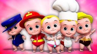 cinco pequenos bebês | saltando canções | Five Little Babies
