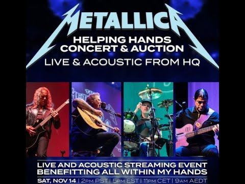 "METALLICA to livestream their ""Live & Acoustic From HQ: Helping Hands Concert & Auction""!"