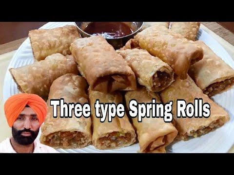 Veg Spring Rolls Recipe Three Type Homemade Sheets Easy & Quick Snack Recipe Jaan Mahal Video