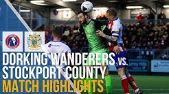 FA Trophy - Dorking Wanderers Vs Stockport County - Match Highlights - 12.10.2020