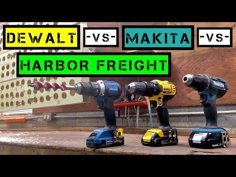 Dewalt -VS- Makita -VS- Harbor Freight (Hercules) / DCD780 -VS- XFD10 -VS- HC91K1