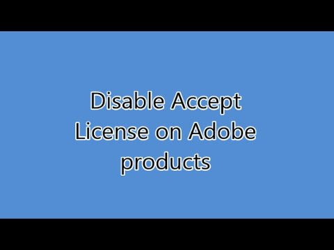 Repeatedly asked to accept license agreement - FIX (All adobe products)