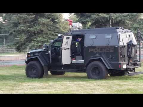 Gunman at Manhattan Elementary School.  Cops send in the Terradyne swat vehicle.