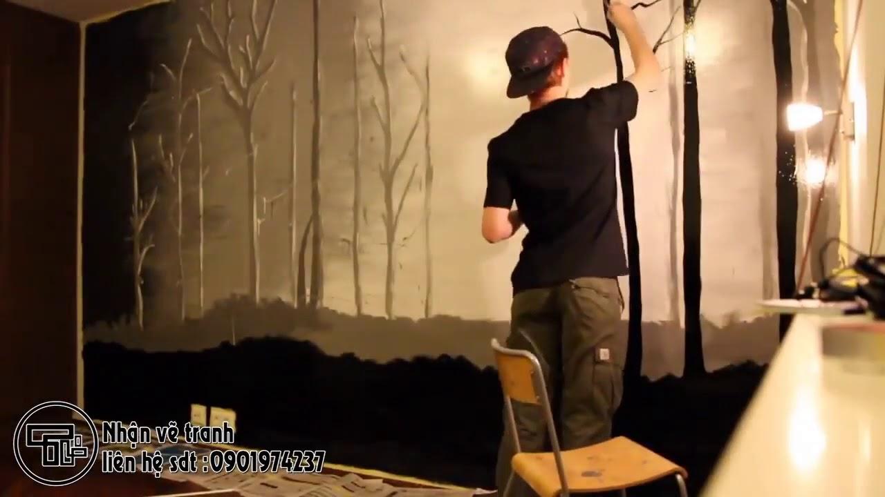 nhận vẽ tranh tường phòng ngủ tại đà nẵng sdt 0901974237