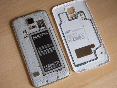 pretty nice 26a83 8d2fa Samsung Galaxy S5 official wireless charging cover hands-on