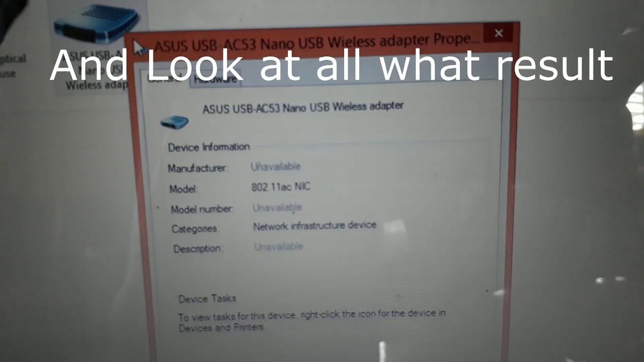 Asus AC53 NANO USB Adapter Testing
