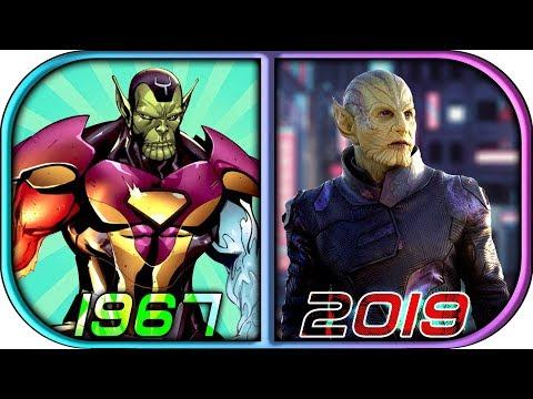 EVOLUTION of SKRULLS in Movies Cartoons TV (1967-2019) Captain Marvel vs skrull movie scene 2019