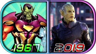 EVOLUTION of SKRULLS in Movies Cartoons TV (1967-2019) Captain Marvel vs skrull movie scene 2019