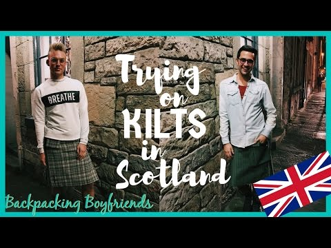 TRYING ON KILTS IN SCOTLAND | TRAVEL VLOG