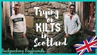 TRYING ON KILTS IN SCOTLAND | TRAVEL VLOG