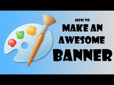 How to Make an AWESOME YouTube Banner By Using JUST MS PAINT!!!