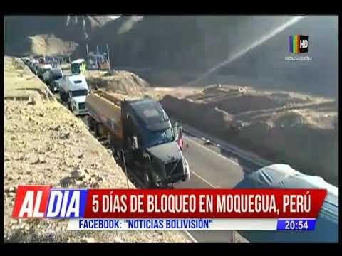 5 días de bloqueo en Moquegua, Perú