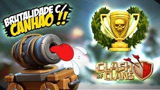 CLASH OF CLANS - TESTANDO CARRINHO DE CANHÃO NV 16