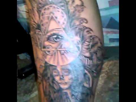 Tattoo Pray Mano De Fatima Con Ojo De Dios Black And Gray Youtube