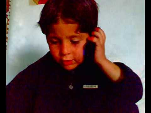 pashto language small boy speaks abusive word on the phone