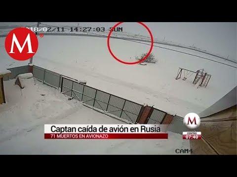 Captan caída de avión en Rusia