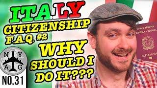 Italian Dual Citizenship Jure Sanguinis:  Why get Italian Dual Citizenship and not a visa? (FAQ #2)