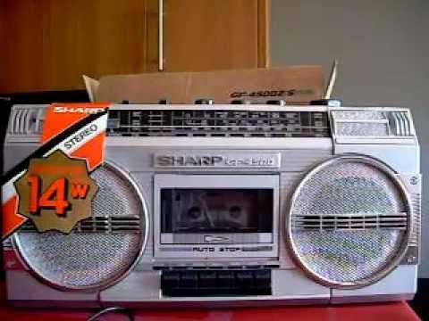sharp 80s boombox. sharp 80s boombox a
