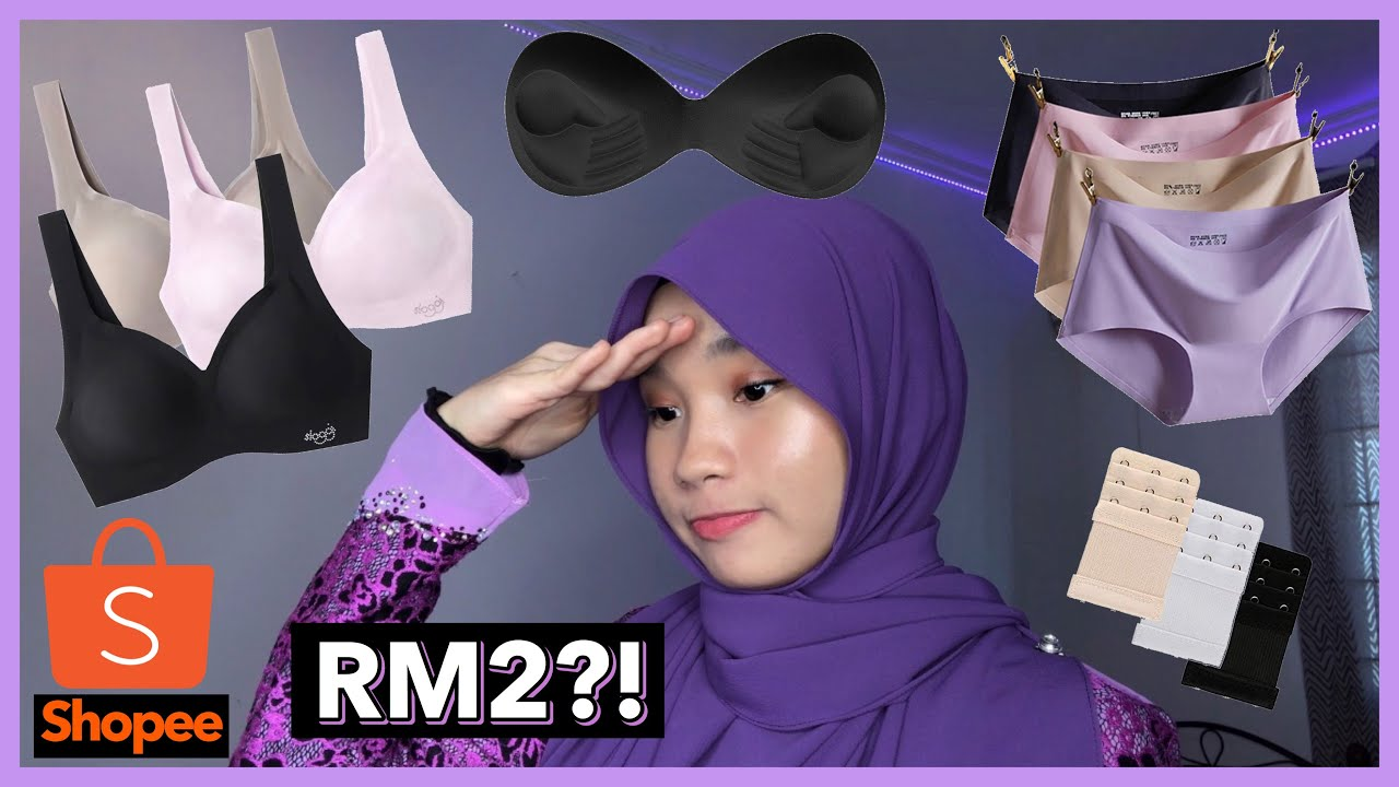 BEST CHEAP & COMFY UNDERGARMENTS ( SHOPEE ) + GIRL TALK (Sports bra, Seamless underwear, Leggings)