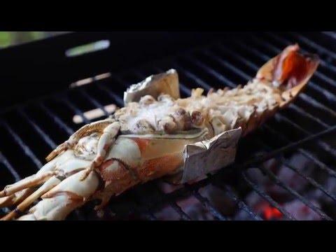 Простой рецепт лангуста на гриле (тайский)