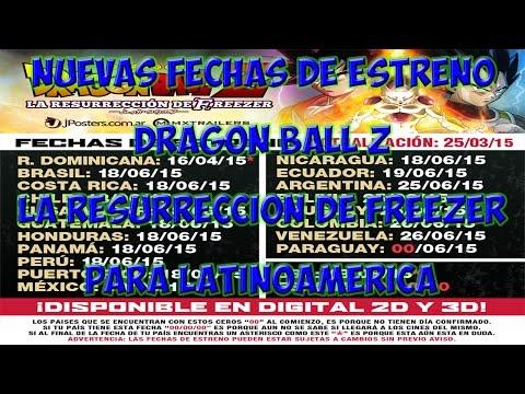 Nuevas Fechas De Estreno De Dragon Ball Z La Resurrecion De Freezer Para Latinoamerica | Dragon Ball