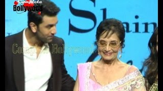 Watch Legend Actress Sadhana with Ranbir Kapoor walk the ramp for Shaina NC