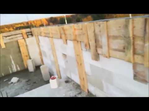 #68. Jak zrobić/zalać wieniec i trzpienie na ściance kolankowej - Buduję sam - Dom pod tulipanowcem
