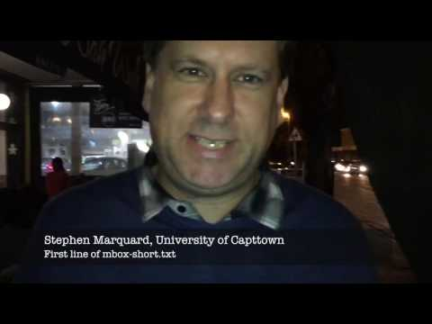Coursera Office Hours Capetown South Africa 11-May-2017
