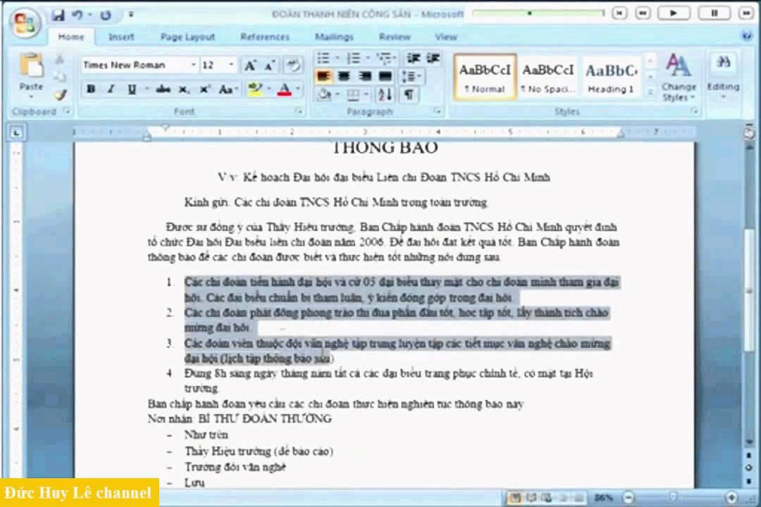 Cách sử dụng thước căn lề và Tab trong Word