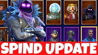 FORTNITE SPIND UPDATE BEFORE SEASON 4 | MY SKINS, EMOTES USW.