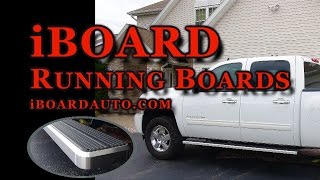 """6"""" IBoard Running Boards Installed On A 2011 Chevy Silverado Crew Cab"""