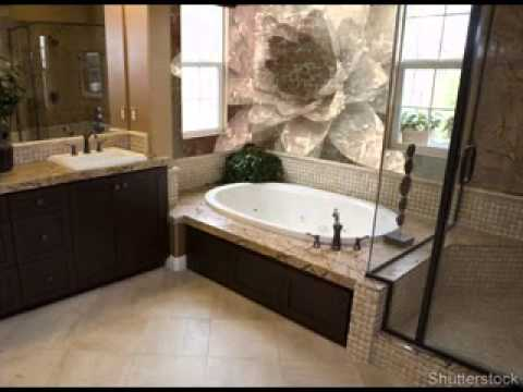 Garden tub decorating ideas youtube for How to decorate a garden tub bathroom