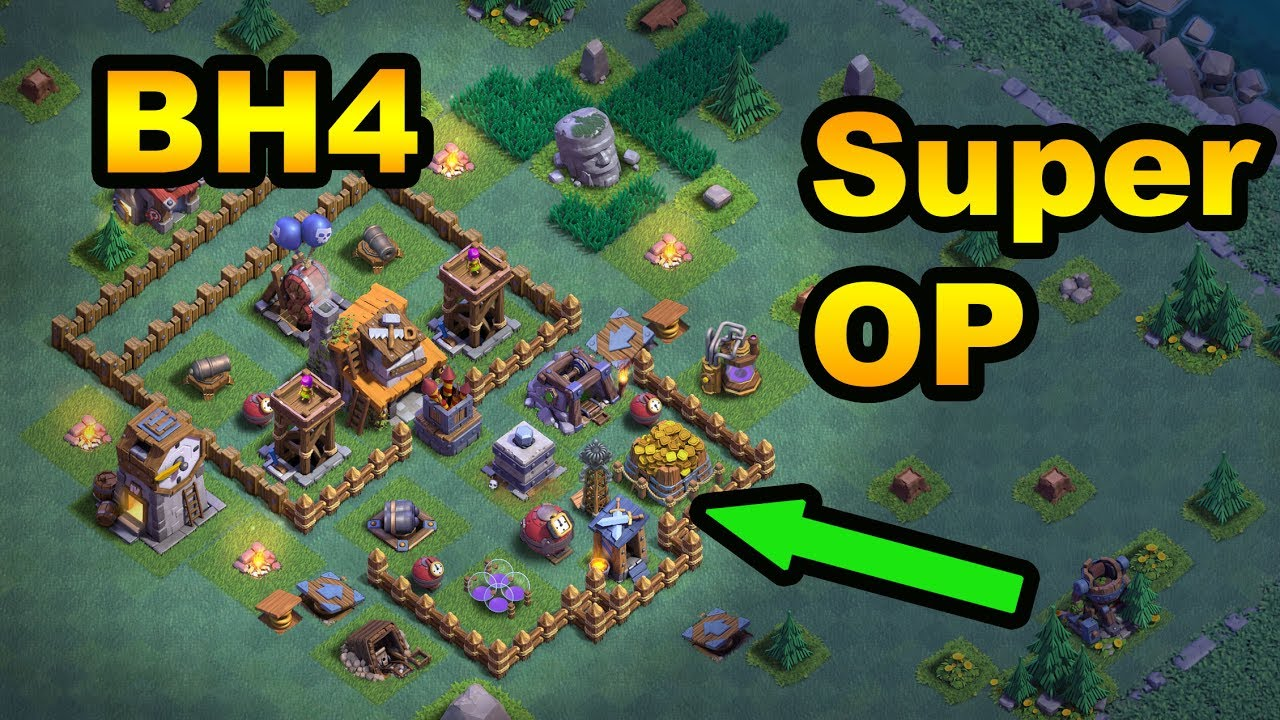 Most op builder hall 4 anti 2 star base ever brand new Best builder house 4 base