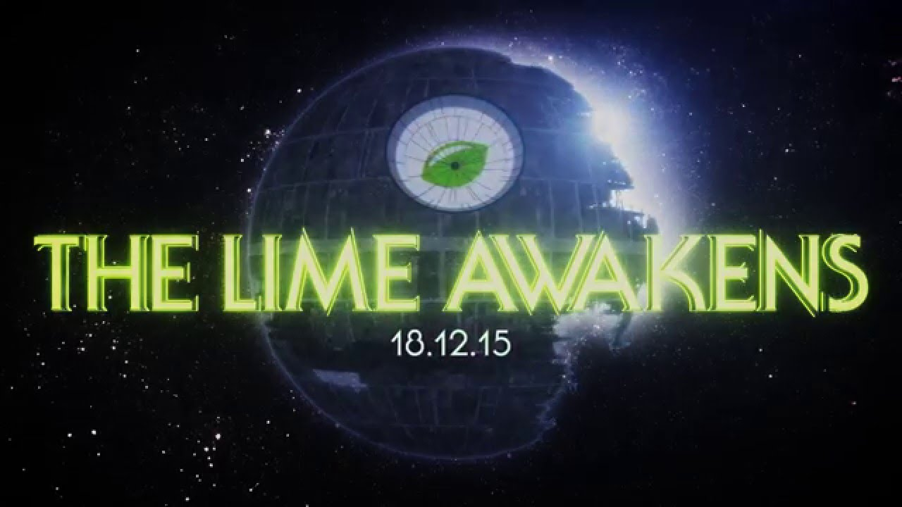 Star Wars Party Invitation Video - LimeSoda 2015 - The Lime Awakens ...