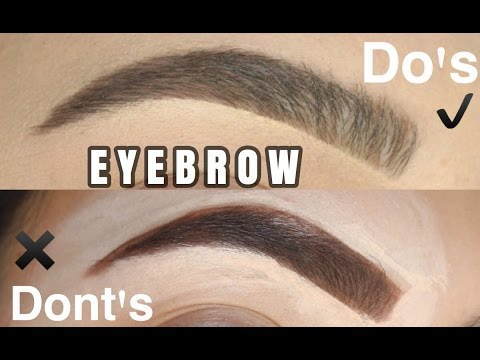 Eyebrow Hacks: Do's and Don'ts