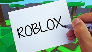 ROBLOX ! HOW TO TURN WORDS ( ROBLOX ) INTO CARTOON