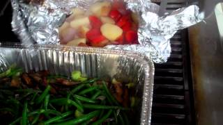 Bbq Galore Grill 32 Challenge W9 D6 French Beans & Potatoes With Leftovers.mp4