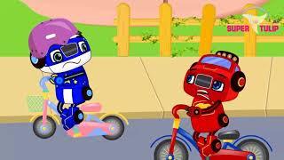 Blaze Cars Monster Machines Babies Baby Helmet Funny Story! Blaze Monster Truck Cartoon