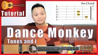 """Dance Monkey"" Guitar Tutorial - Tones and I"