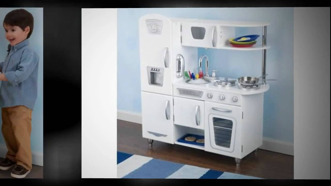 KidKraft White Vintage Kitchen 53208 - Fun Toy Wooden Kitchen - YouTube