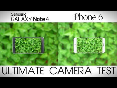 Samsung Galaxy Note 4 vs iPhone 6 Plus - Camera Comparison Test