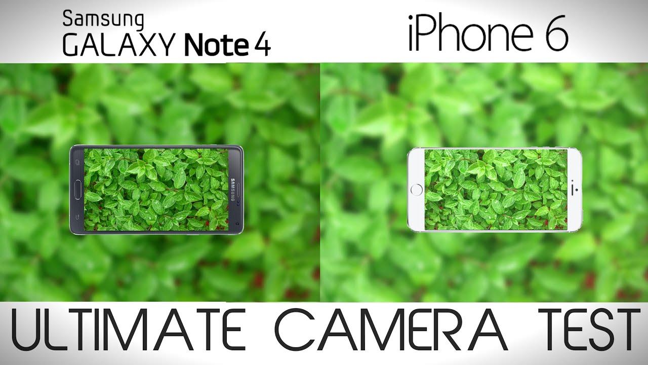 Samsung Galaxy S6 vs iPhone 6 camera comparison